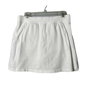T By Talbots Medium White Skort Built In Shorts Sk